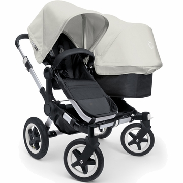 Bugaboo Donkey Compact Fold Duo Stroller in Black/Off-White