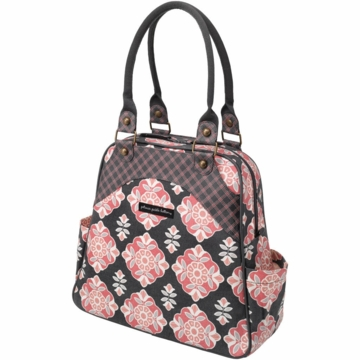 Petunia Pickle Bottom Organic Cotton Sashay Satchel in Blooming Begonia