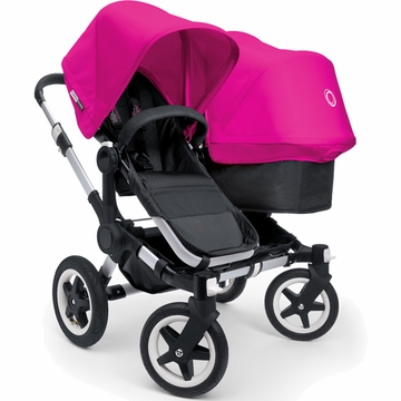 Bugaboo Donkey Compact Fold Duo Stroller in Black/Pink