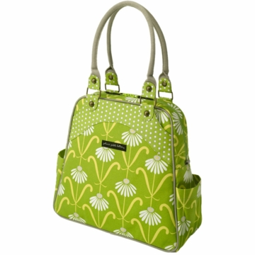 Petunia Pickle Bottom Organic Cotton Sashay Satchel in Dancing Daisies