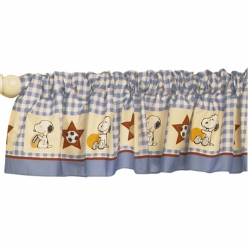 Bedtime Originals Champ Snoopy Window Valance