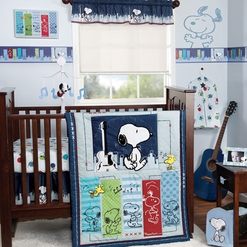 Bedtime Originals Hip Hop Snoopy 3 Piece Crib Bedding Set