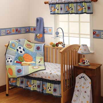 Bedtime Originals Super Sports 3 Piece Crib Bedding Set