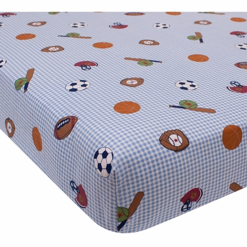 Bedtime Originals Super Sports Crib Sheet