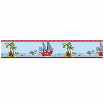 Bedtime Originals Treasure Island Wallpaper Border