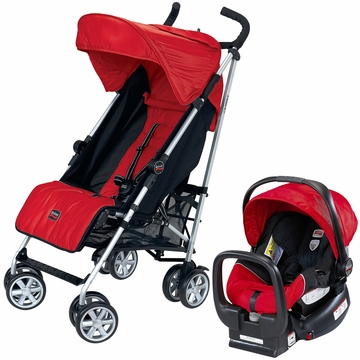 Britax B-Nimble & Chaperone Travel System - Red