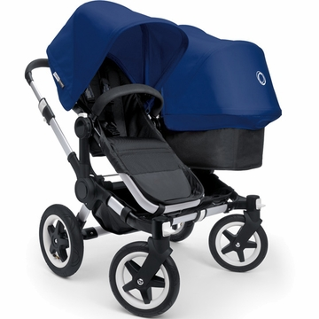 Bugaboo Donkey Compact Fold Duo Stroller in Black/Royal Blue