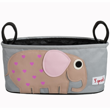 3 Sprouts Stroller Organizer - Pink Elephant