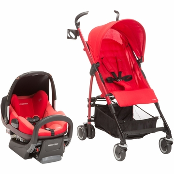 Maxi Cosi Kaia & Prezi Travel System - Red