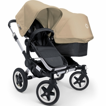 Bugaboo Donkey Compact Fold Duo Stroller in Black/Sand