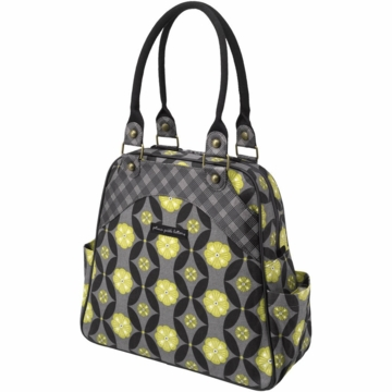 Petunia Pickle Bottom Organic Cotton Sashay Satchel in Midnight Mums