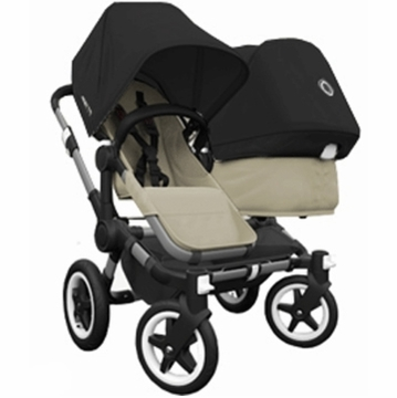 Bugaboo Donkey Compact Fold Duo Stroller in Sand/Black