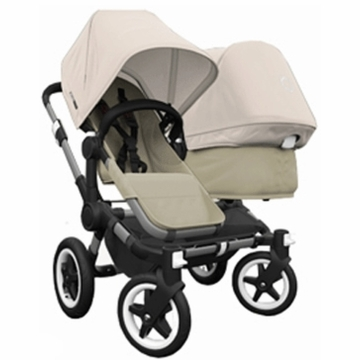 Bugaboo Donkey Compact Fold Duo Stroller in Sand/Off-White