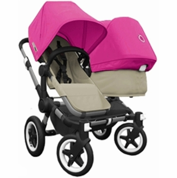 Bugaboo Donkey Compact Fold Duo Stroller in Sand/Pink