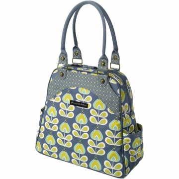 Petunia Pickle Bottom Organic Cotton Sashay Satchel in Twilight Tiger Lily