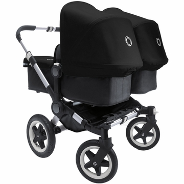 Bugaboo Donkey Compact Fold Twin Stroller in Black/Black