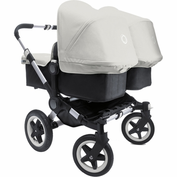 Bugaboo Donkey Compact Fold Twin Stroller in Black/Off-White