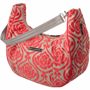 Petunia Pickle Bottom Touring Tote in Almond Raspberry