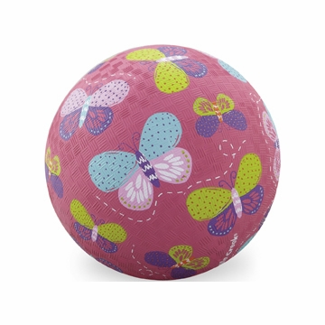 "Crocodile Creek 7"" Playball - Pink Butterflies"