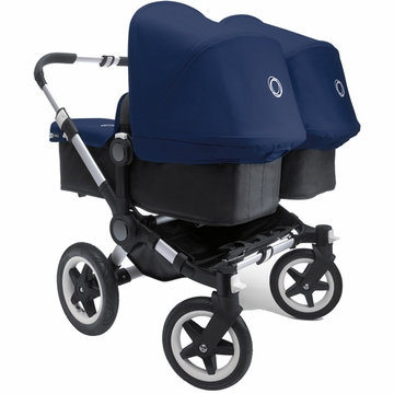 Bugaboo Donkey Compact Fold Twin Stroller in Black/Royal Blue