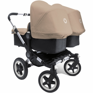 Bugaboo Donkey Compact Fold Twin Stroller in Black/Sand