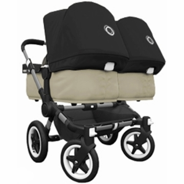 Bugaboo Donkey Compact Fold Twin Stroller in Sand/Black