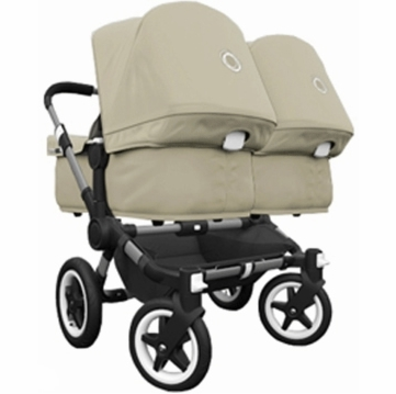 Bugaboo Donkey Compact Fold Twin Stroller in Sand/Sand