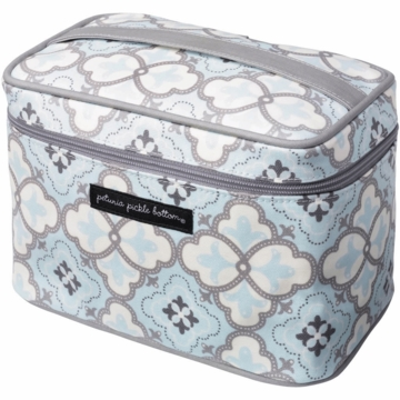 Petunia Pickle Bottom Travel Train Case in Classically Crete