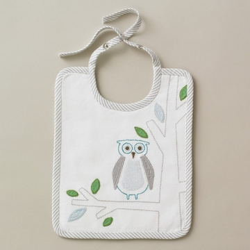 DwellStudio Owls Sky Embroidered Bib