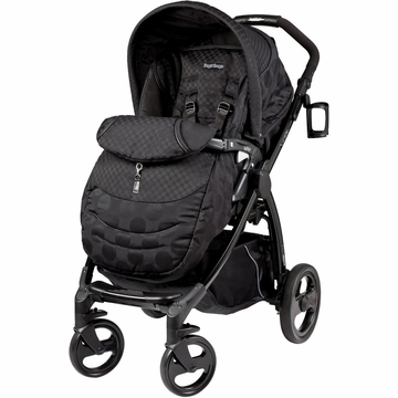 Peg Perego Book Plus Stroller in Pois Black
