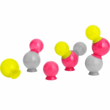 Boon BUBBLES Suction Cup Bath Toys - Multi Color Yellow