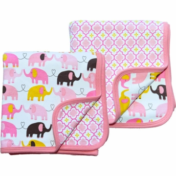 Magnificent Baby Girl's Elephant On Parade/El Marrakesh 2-Ply Blanket