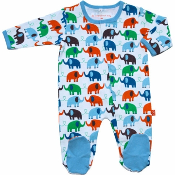 Magnificent Baby Boy's Elephants On Parade Footie - Newborn to 3 Months
