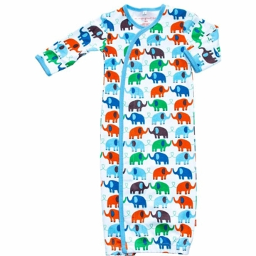 Magnificent Baby Boy's Elephant On Parade Gown - Newborn to 3 Months