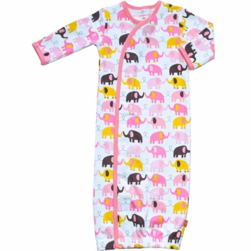 Magnificent Baby Girl's Elephants On Parade Gown - Newborn to 3 Months