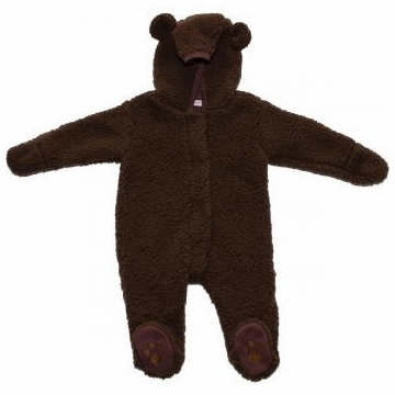 Magnificent Baby Mocha Bear Footie - 3 to 6 Months
