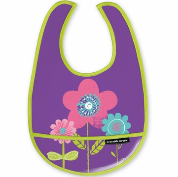 Crocodile Creek Bib - Three Flowers