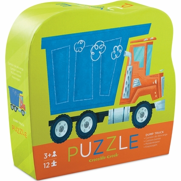 Crocodile Creek Mini Shaped Box Puzzle - Dump Truck