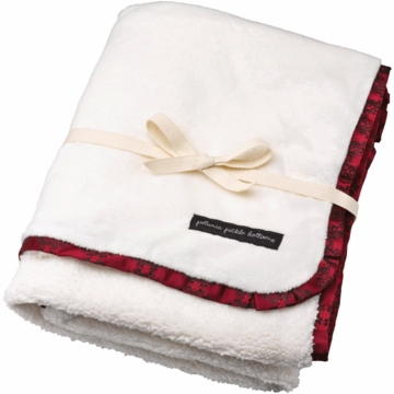 Petunia Pickle Bottom Receiving Blanket in Spiced Crimson Roll
