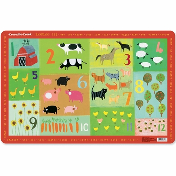 Crocodile Creek Placemat - Barnyard 123