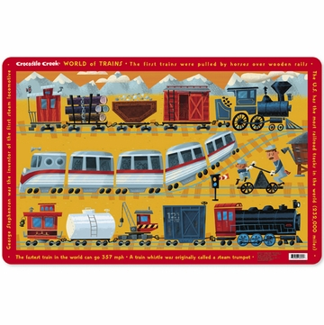Crocodile Creek Placemat - World of Trains