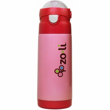 ZoLi Baby DASH 12 oz. Vacuum Insulated Straw Drink Bottle - Pink