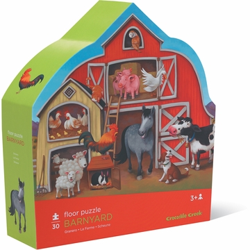Crocodile Creek Shaped Box Puzzle - Barnyard