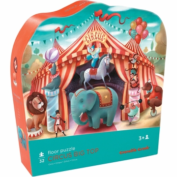 Crocodile Creek Shaped Box Puzzle - Circus