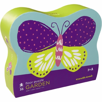 Crocodile Creek Shaped Box Puzzle - Garden