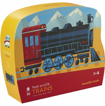 Crocodile Creek Shaped Box Puzzle - Trains