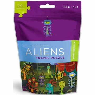 Crocodile Creek Travel Pouch Puzzle - Aliens