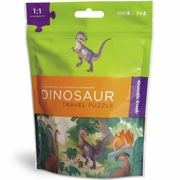 Crocodile Creek Travel Pouch Puzzle - Dinosaur