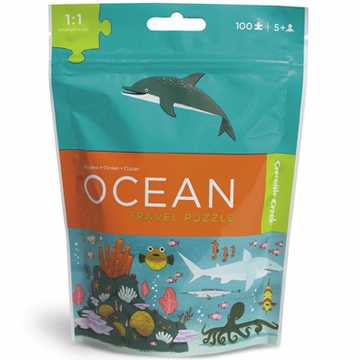 Crocodile Creek Travel Pouch Puzzle - Ocean