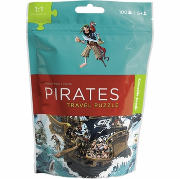 Crocodile Creek Travel Pouch Puzzle - Pirate